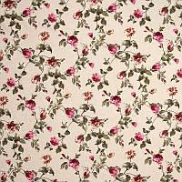 "Ткань ""Маркиза"" розовые цветы для штор, покрывал"