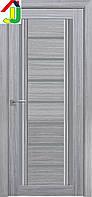 Дверь межкомнатная Новый стиль Флоренция С2 ПВХ Итальяно жемчуг серебряный стекло GRF