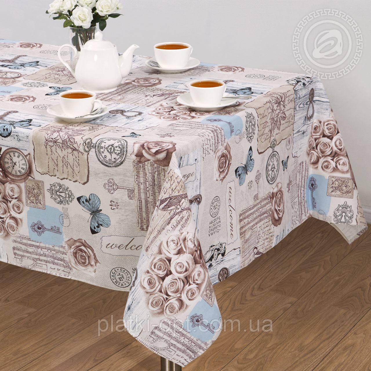"""Скатерть льняная  """"Либретто"""" 1.8м х 1.5м (средний стол)"""