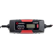 Зарядний пристрій 6/12В, 1/2/3/4А, 230В, зимовий режим зарядки, дисплей, максимальна ємність акумулятора, що заряджається 1.2-120 а/год INTERTOOL AT-3024