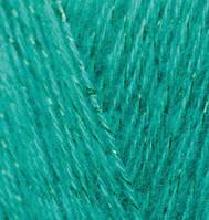 Пряжа для вязания Ангора голд СИМЛИ изумрудный 20