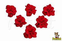 Цветы Фиалка красная с тычинками из фоамирана 3 см 10 шт/уп