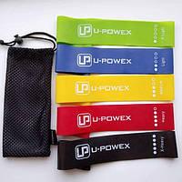 Набор фитнес резинок для фитнеса U-Powex из 5 лент и чехла в упаковке. ОРИГИНАЛ. Резинки Хит США!