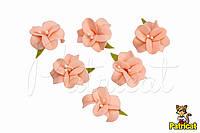 Цветы Жасмин персиковый с тычинками из фоамирана 3 см 10 шт/уп