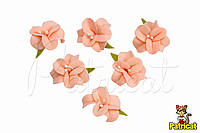 Цветы Жасмин персиковый с тычинками из фоамирана 3 см 10 шт/уп, фото 1