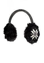 Дитячі теплі навушники Сніжинка