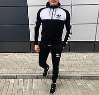 Спортивный костюм Adidas Black-white черно-белый. Адидас