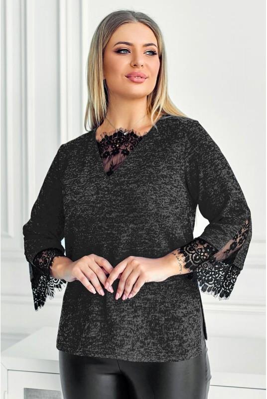 Красивая блузка с кружевом Мидея 48-60рр