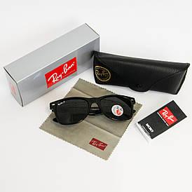 Солнцезащитные очки RAY BAN Wayfarer поляризационные антибликовые UV400 (арт. 2140P) черные
