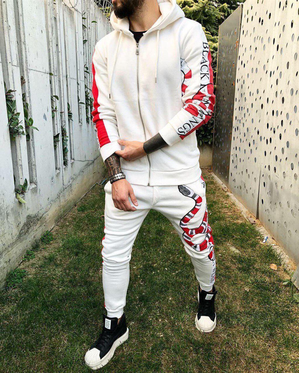 Мужской спортивный костюм Black Island mk 4 white