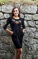 Трикотажне плаття з вишивкою Калинове Диво