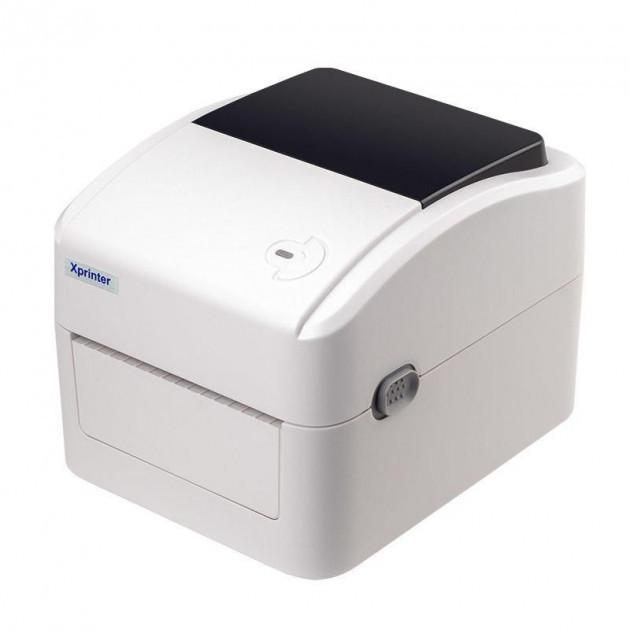 Принтер этикеток, термопринтер штрих кодов, QR кодов Xprinter XP-420B - UL USB + LAN 110mm