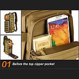 Тактический однолямочный рюкзак Protector Plus X213, фото 8
