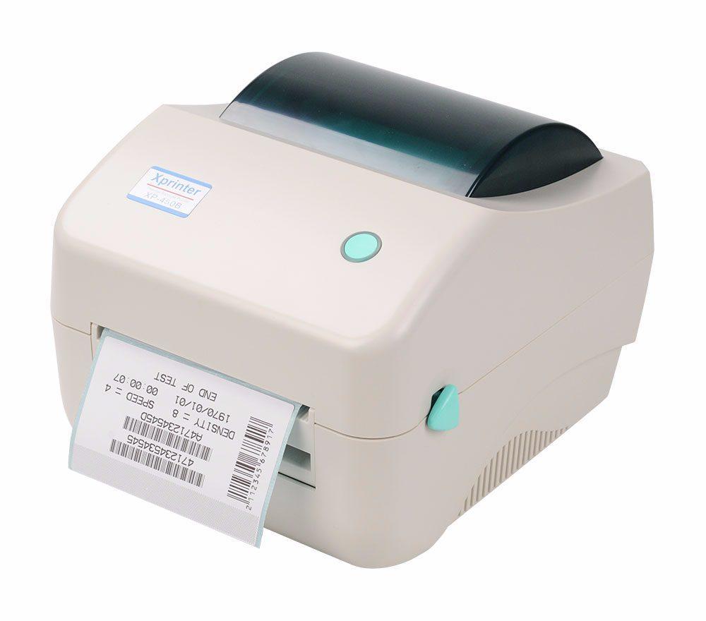 Принтер этикеток, термопринтер штрих кодов, QR кодов Xprinter XP-450B - UL USB + LAN 110mm