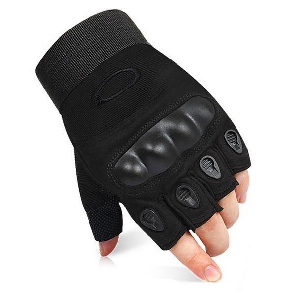 Тактические перчатки беспалые с костяшками Oakley (Replica)