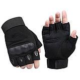 Тактические перчатки беспалые с костяшками Oakley (Replica), фото 4