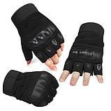 Тактические перчатки беспалые с костяшками Oakley (Replica), фото 5