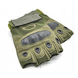 Тактические перчатки беспалые с костяшками Oakley (Replica), фото 7