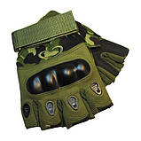 Тактические перчатки беспалые с костяшками Oakley (Replica), фото 9