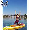 Надувная САП доска Ладья Yoga SUP-Board 320x82x15 см + весло + лиш + плавник + насос + рюкзак, Украина, фото 3