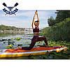 Надувная САП доска Ладья Yoga SUP-Board 320x82x15 см + весло + лиш + плавник + насос + рюкзак, Украина, фото 5