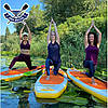 Надувная САП доска Ладья Yoga SUP-Board 320x82x15 см + весло + лиш + плавник + насос + рюкзак, Украина, фото 7