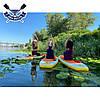 Надувная САП доска Ладья Yoga SUP-Board 320x82x15 см + весло + лиш + плавник + насос + рюкзак, Украина, фото 10