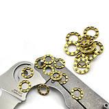 Стальной однорядный шариковый подшипник для ножа (10.5 мм, латунь, пара), фото 2