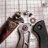 Керамический трехрядный шариковый подшипник для ножа (латунь, пара), фото 2