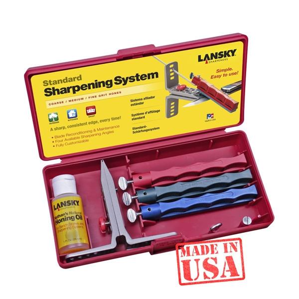 Набор для заточки ножей Lansky Standard 3-Stone System LKC03