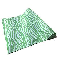 Коврик для йоги, фитнеса и аэробики 1730×610×4мм, PVC, BS, Print, однослойный Зелено-белый