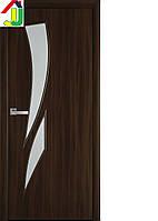 Двері міжкімнатні Новий стиль Камея Екошпон Модерн Горіх