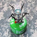 Компактная складная газовая горелка AOTU T6312-A (пьезо), фото 7