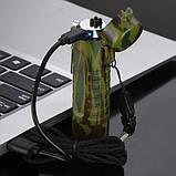 Импульсная USB зажигалка ARC Outdoor 2 в 1, фото 6