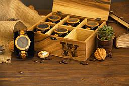 Коробочка для годинника з дерев'яною кришкою Подарунок коханому хлопцеві чоловікові братові коханій дівчині, дружині, сестрі, подрузі