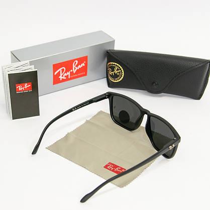 Солнцезащитные очки RAY BAN Wayfarer поляризационные антибликовые UV400 (арт. 2178P) черные, фото 2