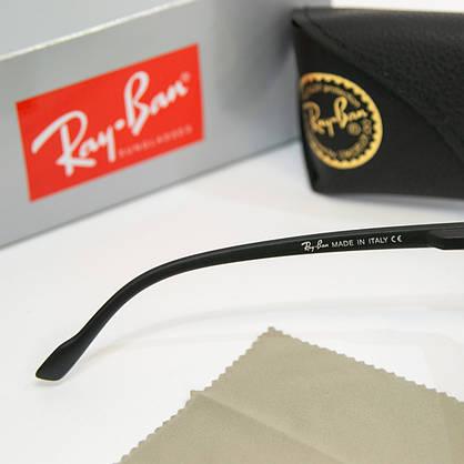 Солнцезащитные очки RAY BAN Wayfarer поляризационные антибликовые UV400 (арт. 2178P) черные, фото 3