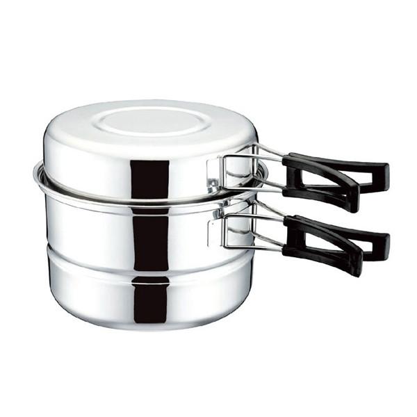 Походный набор посуды из нержавеющей стали (для 1-2 персон)