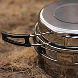 Походный набор посуды из нержавеющей стали (для 1-2 персон), фото 3