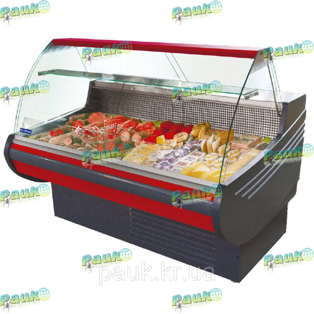 Витрина холодильная MUZA-2,0 м, выпуклое стекло