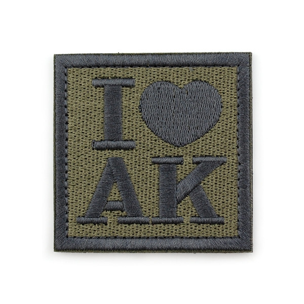 Патч Velcro I love AK