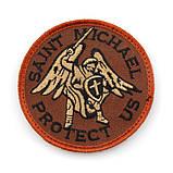 Патч Архангел Михаил Saint Michael Protect Us (круглый), фото 2