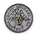 Патч Архангел Михаил Saint Michael Protect Us (круглый), фото 4