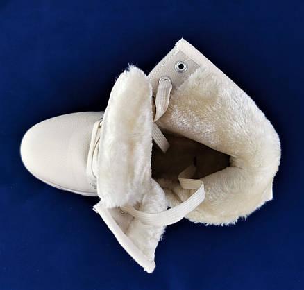 .Зимові Черевики Півчобітки Жіночі Бежеві на Хутрі Блискавка (розміри: 36) Відеоогляд - 917, фото 3