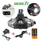 Налобный фонарь фокусируемый Boruit RJ-2157, фото 8