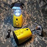 Многофункциональная динамо-лампа с радиоприемником, фото 3