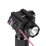 Тактическая передняя рукоятка с фонарем и ЛЦУ Picatinny/Weaver, фото 2