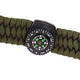 Паракордовый браслет с компасом, огнивом и свистком, фото 8