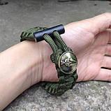 Браслет з паракорда Spartan з кресалом і ножем, фото 4