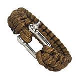 Паракордовый браслет со стальной пряжкой, фото 4